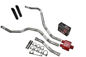 For Nissan Titan 04 06 Dual Exhaust 2 5 Inch Cherry Bomb Extreme Black Tip