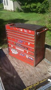 Pickup Only Vintage Rick Mears Special Edition Snap on 7 Drawer Tool Box Kr 557d