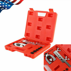 Double Flaring Brake Line Tool Kit Tubing Car Truck Tool With Molded Carry Case