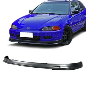 Fit For 92 95 Honda Civic Coupe Hatchback Jdm Mugn Style Front Bumper Add On Lip