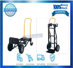 2 Wheel Hand Dolly Moving Cart Nylon 700 lb Capacity Built in Stair Glides