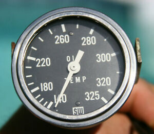 Stewart Warner 2 5 8 Vintage Oil Temperature Gauge
