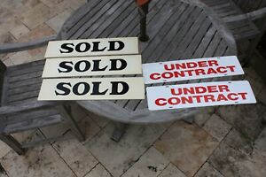 Real Estate Sign Riders Lot Used Set Sold Under Contract 24 X 6 2 Sided