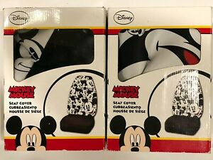 2 2012 Original Mickey Mouse Disney Car Seat Covers Vintage Rare