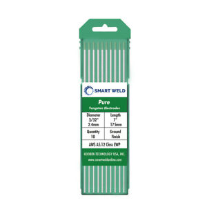 Green Tig Welding Tungsten Electrode 3 32 10 Pack Wp Pure