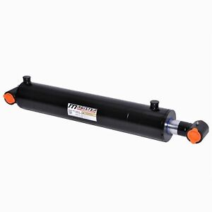 Hydraulic Cylinder Welded Double Acting 5 Bore 36 Stroke Cross Tube 5x36 New