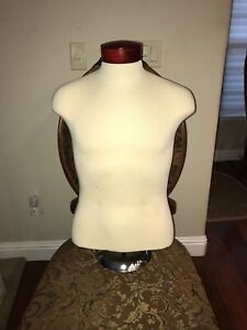 High Grade Adjustable Mannequin Shirt Form Neck Block Male Torso Mannequin