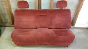 1992 1996 Ford F150 F250 F350 Front Bench Seat Red 1987 1991 1980 1986