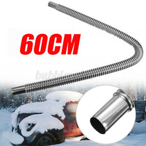 2ft Stainless Steel Parking Air Heater Tank Exhaust Pipe Diesel Gas Vent Hose