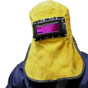 Solar Auto Darkening Filter Lens Welder Leather Hood Welding Helmet Masktb19