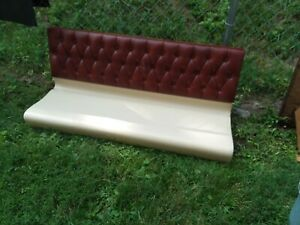 Restaurant Booth 54 Inch Diamond Tufted Back Fiberglass Seat No Legs