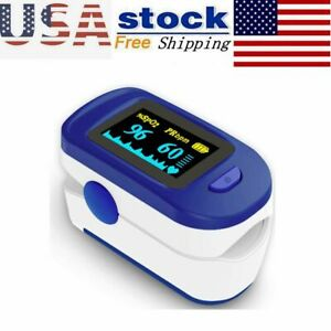 Led Finger Pulse Oximeter Blood Oxygen Spo2 Monitor O2 Heart Rate Monitor Tool