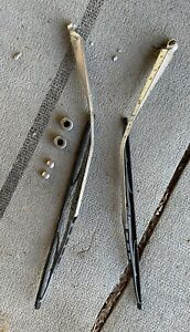 1971 Mercedes Benz 280 Sel Windshield Wipers And Washer Water Chrome Nozzles