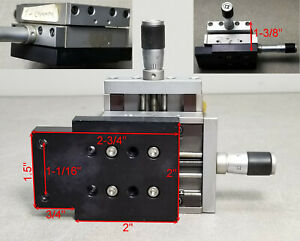 X y Newport Klinger Micro controle Micrometer Linear Translation Stage Tables