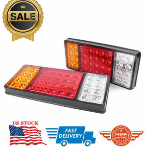 12v 36 Led Brake Stop Rear Tail Lights Indicator Reverse Lamp Trailer Truck Rv