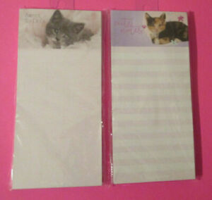 Lot Of 2 Kitten Cat To Do s Cute Notes Lined Pink Rachael Hale 80 Sheets