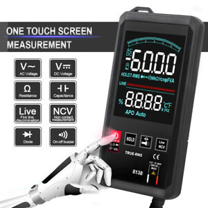 Touch Screen Multimeter Tester Lcd Digital Ac Dc Voltage True Rms Tester Tool