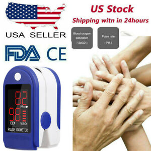 Blood Pulse Oximeter Spo2 Oxygen Monitor Finger Oxygen Saturation Pr Pi Monitor