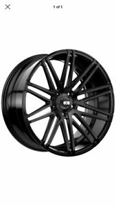 22 Xo Luxury Milan Black Staggerred Alloy Wheels Dodge Charger new
