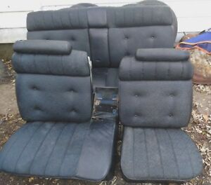 Pickup Only 1971 76 Cadillac Front Rear Black Seats Fleetwood Brougham Deville