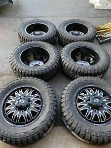 New 6 20 Dually Wheels For 8 Lug Ford Dodge Chevy Trucks With 33 12 5 20 Lt
