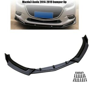 3pcs Front Bumper Lip Body Kit Spoiler Black For Mazda 3 Axela 14 19