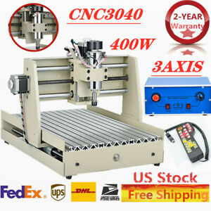 Usa 3040cnc 3axis Router Engraver Engraving Drill Milling Carving Machine W Rc