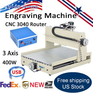 400w Usb 3axis Cnc3040 Router Engraver Engraving Drill Mill Carving 3d Machine