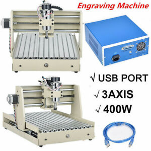 Usb Desktop 3axis Cnc3040 Router Engraver Machine Engraving Drilling 400w Withrc