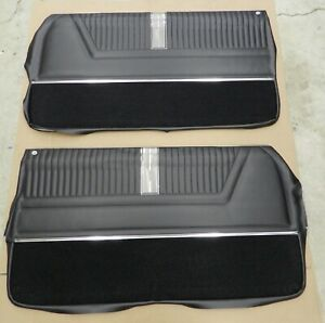 1965 Impala Ss Coupe Pre assembled Pui Front Door Panels Black In Stock