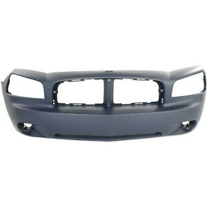 Front Bumper Cover For 2006 2010 Dodge Charger Se Sxt Primed 4806179ae