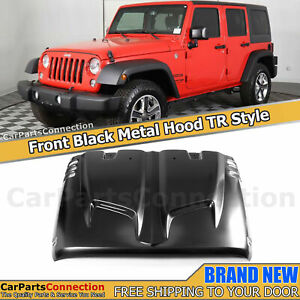 Tr Style Steel Hood For Jeep Wrangler Jk 2 door Unlimited 4 doors 07 18