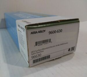 Assa Abloy hes 9600 630 Electric Strike 12 24vdc Stainless Steel New In Box