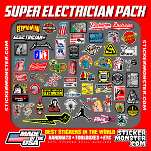 New Electrician 55 Hard Hat Stickers Hardhat Decals Lineman Reddy Ibew