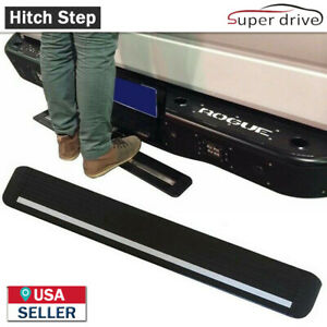 Hitch Steps Bumper Guard Fits 2 Receiver 35 Black Painted Aluminium Truck Suv