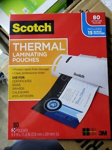 Scotch Thermal Laminating Pouches Variety Pack 80 Ct 3 Mil Tp mix 80