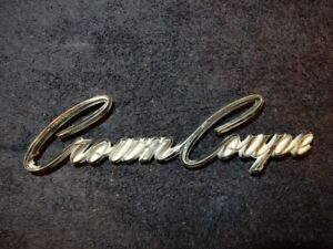 Vintage 1964 1966 Chrysler Imperial Crown Coupe Emblem Oem 2483445