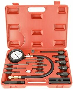 Diesel Engine Cylinder Compression Tester Tool Kit 0 1000 Psi Direct Indirect