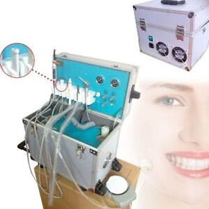 2 Hole Portable Dental Delivery Unit Air Compressor Suction System Equipment New