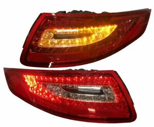 Red Clear Finish Led Tail Rear Lights For Porsche 911 997 04 08