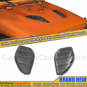 Hood Vent Bezels Pair For Jeep Wrangler Jk Jku 13 18 10th Anniversary Hr Style