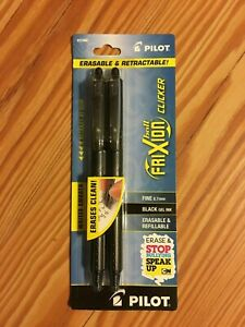Pilot Frixion Ball Clicker Erasable Retractable Black Gel Ink Pen Fine 0 7mm
