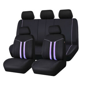 Carpass Car Seat Cover Purple 100 polyester Washable Universal For Car Truck Suv