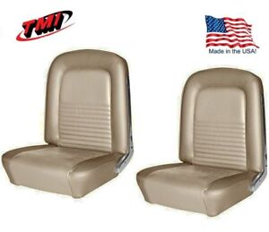 1967 Mustang Front Rear Seat Upholstery Parchment By Tmi In Stock