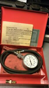 Snap on Mt37 Oil Pressure Gauge Metal Case 3 Adapters Free Shipping