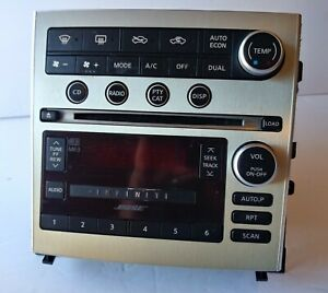 05 06 07 Infiniti G35 6 Cd Mp3 Player Changer Ac Climate Control Panel Oem