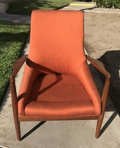 Vintage Mid Century Danish Modern Furniture Arm Chair Kofod Jensen Era