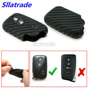 Carbon Fiber Style Soft Silicone Key Fob Cover For Lexus Is Es Gs Ls Lx Gx Rx