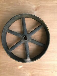 Antique Industrial Cart Cast Iron Spoked Wheels 10 D iameter X 2
