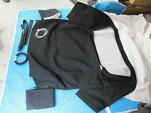 1963 67 Corvette Black Convertible Top Stayfast Pads Kit mercedes Type Material